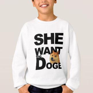 Sie will den Doge Sweatshirt