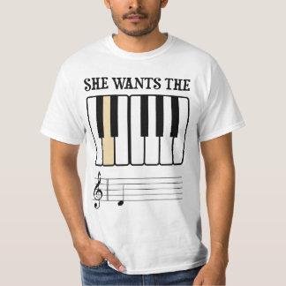 Sie will die d-Klavier-Musik Tshirt