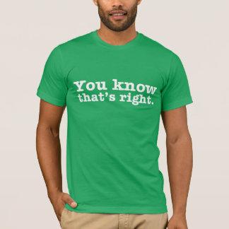 Sie WISSEN, das RECHTES T-Stück ist T-Shirt