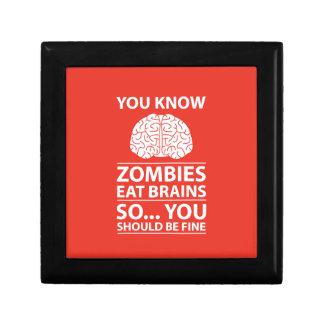 Sie wissen - Zombies essen Gehirn-Witz Schmuckschachtel