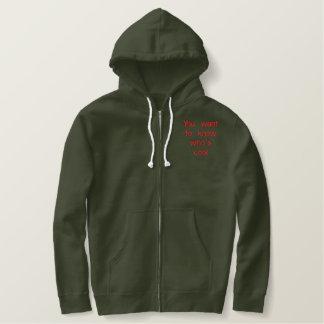 Sie wollen, um zu wissen, wem cool ist bestickter hoodie