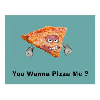 Sie wollen zur Pizza mich? Postkarte