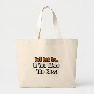 Sie würden auch… Chef trinken Einkaufstaschen