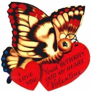 Sie wurden Schmetterling Freistehende Fotoskulptur