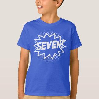 SIEBEN! 7. Geburtstags-Geschenksuperhero-Logo-T - T-Shirt