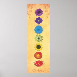 Sieben Chakras Fahne Poster