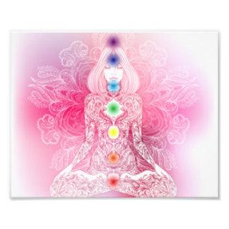 Sieben Chakras rosa Dame Fotodruck