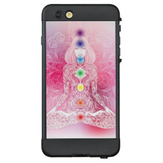 Sieben Chakras rosa Dame LifeProof NÜÜD iPhone 6 Plus Hülle