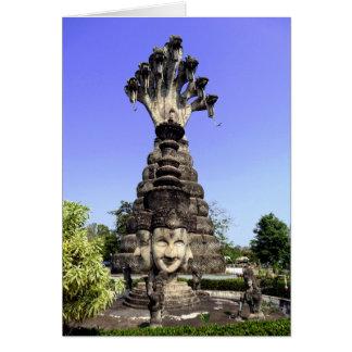 Sieben gingen Naga, Thailand voran Karte