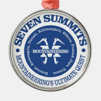 Sieben Gipfel Silbernes Ornament