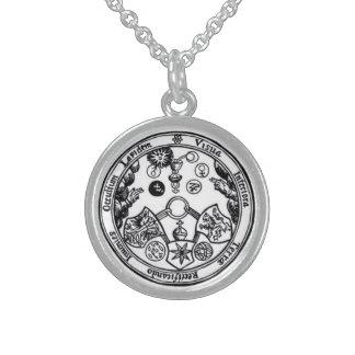 sieben magische Metalle Sterling Silberkette