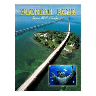 Sieben Meilen-Brücken-u. Tauben-Schlüssel, Postkarte