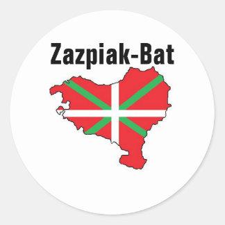 Sieben Provinzen ein Baskenland-Aufkleber Runder Aufkleber