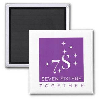 Sieben Schwester-zusammen Kühlschrankmagnet