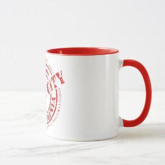 Sieben Stadt-Briefmarke - Rot Tasse