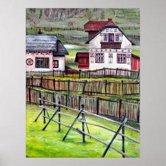 Siebenbürgen, Rumänien, malerische gemalte Poster