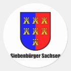 Siebenbürger Sachsen Runder Aufkleber