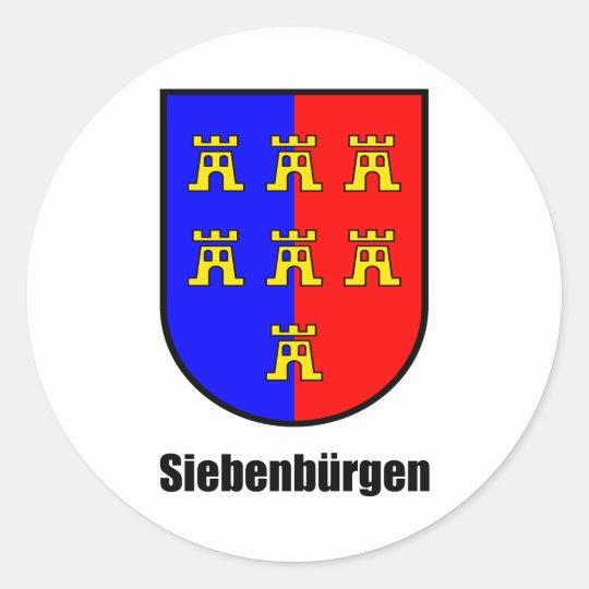 """Siebenbürger Sachsen """"Siebenbürgen"""" Runder Aufkleber"""