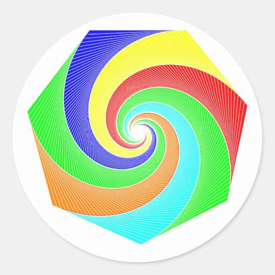 Siebeneck Spiralen septagon spirals Runder Aufkleber