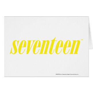 Siebzehn Logo-Gelb Karte