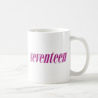 Siebzehn Logo-Lila Kaffeetasse