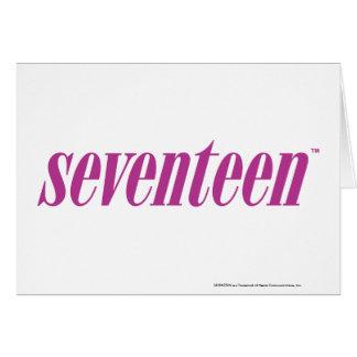 Siebzehn Logo-Lila Karte