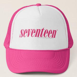 Siebzehn Logo-Magentarot Truckerkappe