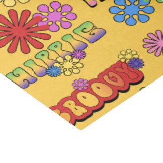 Siebziger Hippiemuster deckte PartySeidenpapier Seidenpapier