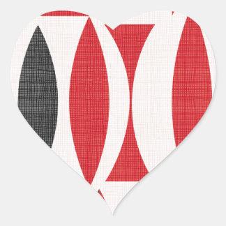 Siebziger rot und schwarz Herz-Aufkleber