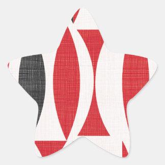 Siebziger rot und schwarz Stern-Aufkleber