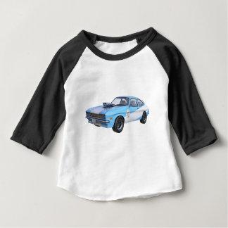 Siebzigerjahre blau und weißes Muskel-Auto Baby T-shirt