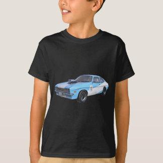 Siebzigerjahre blau und weißes Muskel-Auto T-Shirt