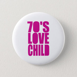 Siebzigerjahre Liebe-Kind Runder Button 5,1 Cm