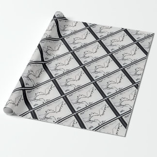 SieCel Mode-Schuh, der Druck zeichnet Geschenkpapier