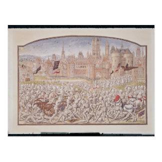 Sieg der Einwohner von Gent führte vorbei Postkarte
