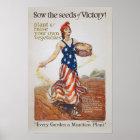 Sieg-Garten-Freiheits-Sau sät WWI Propaganda Poster