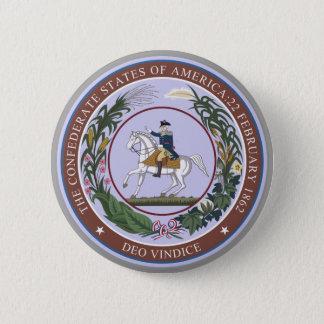 Siegel des Confederacy Runder Button 5,1 Cm