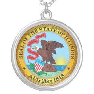 Siegel des Staat von Illinois Versilberte Kette