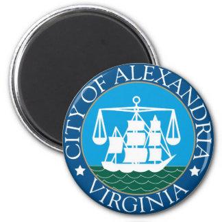 Siegel von Alexandria, Virginia Runder Magnet 5,7 Cm
