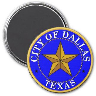 Siegel von Dallas, Texas Runder Magnet 7,6 Cm