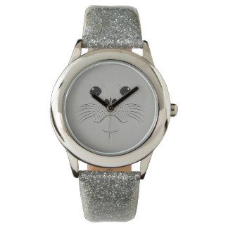 Siegelgesichts-Silhouette Uhr