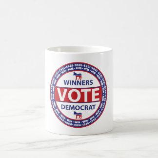 Sieger-Abstimmung Demokrat Kaffeetasse