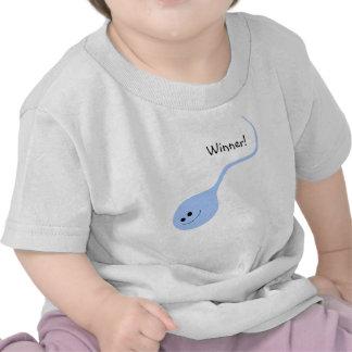 Sieger-blauer lustiger Baby-T - Shirt