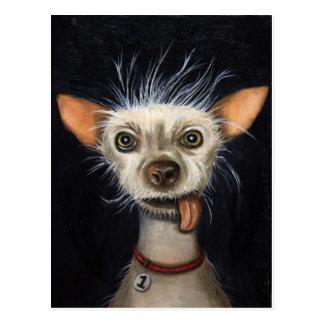 Sieger des hässlichen Hundewettbewerbs 2011 Postkarte