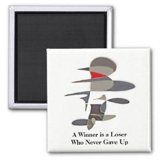 Sieger - geben Sie nie auf - abstrakte Quadratischer Magnet