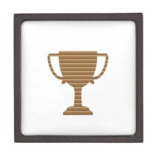 Sieger-Goldtrophäe SCHABLONE addieren TEXT-GRUSS Schachtel