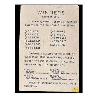 Sieger, Monat Juli, passen für Namen der Sieger Postkarte