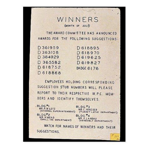 Sieger, Monat Juli, passen für Namen der Sieger Postkarten