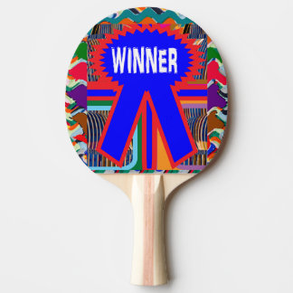 SIEGER rotes Gummi-Rückseiten-Klingeln Pong Paddel Tischtennis Schläger