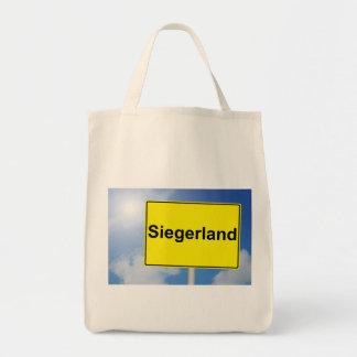 Siegerland Schild mit Himmelhintergrund Tragetasche